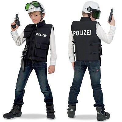 Polizist Kostüm Kinder Polizeiweste Polizeiuniform Polizeihelm Polizei Helm - Kinder Polizei Uniform