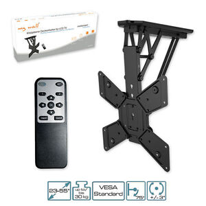 tv soporte motorizado con ir mando a distancia plegable