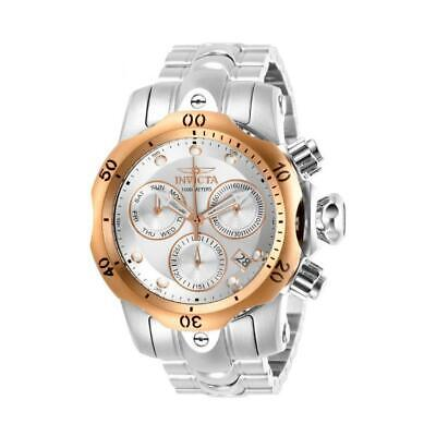 Invicta Venom 29627 Men's Stainless Steel Chronograph Watch with Gold Tone Bezel