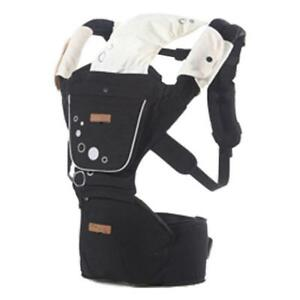 Baby Carrier with Hip Seat for Newborns, Babies & Toddlers - Black - Ship across Canada