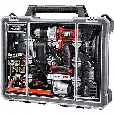 Black   Decker Bdcdmt1206kitc Matrix 6 Tool Combo Kit With Case  New