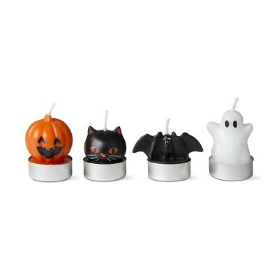 Halloween Character Tealight Candles set of 4 by Tag New Black Cat Bat - Character Candles