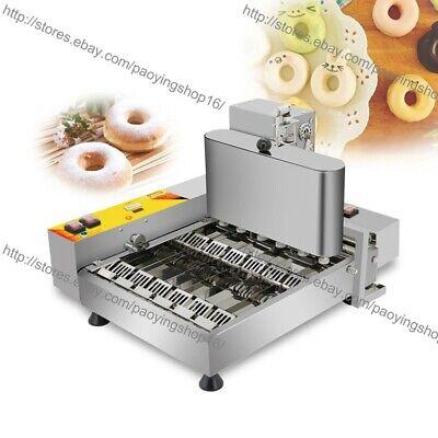 6pcsrow Heavy Duty Electric Automated Mini Doughnut Donut Machine Maker Fryer