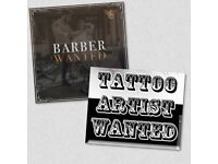 Barber and tattooist wanted