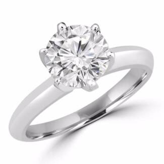 GIA CERTIFIED D/ SI2 ROUND DIAMOND SOLITAIRE RING. VALUED $24,210
