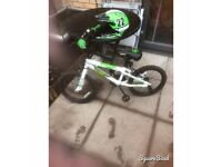 "Apollo force 18"" kids bike with full face helmet"