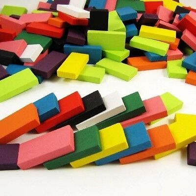 240pcs Authentic Basswood Standard Wooden Kids Domino Racing Toy Game, New