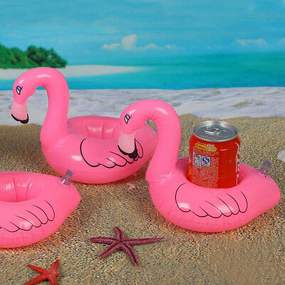 Pink Flamingo Drink can Holder Inflatable Pool beach blow up Toy Party favor
