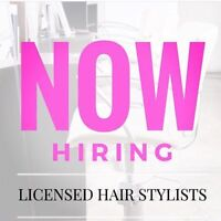 NOW HIRING  LICENCED BARBERS/HAIR STYLISTS