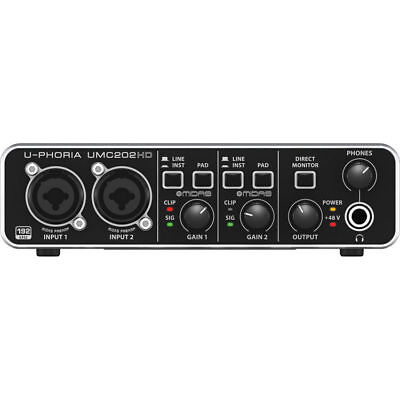 New Behringer U-Phoria UMC202HD Audio Interface Authorized Dealer Best (Best Bus Powered Audio Interface)