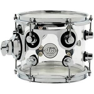 "DW 12"" Clear acrylic rack tom"