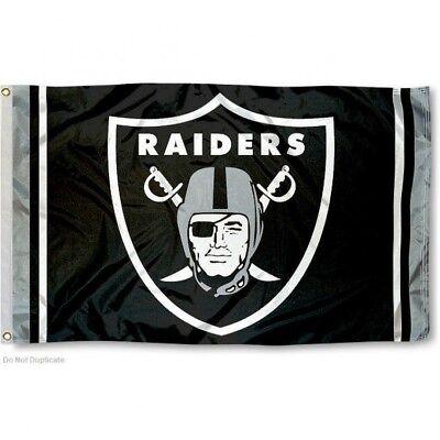 OAKLAND RAIDERS FLAG 3'X5' NFL LOGO BANNER: FREE - Nfl Oakland Raiders