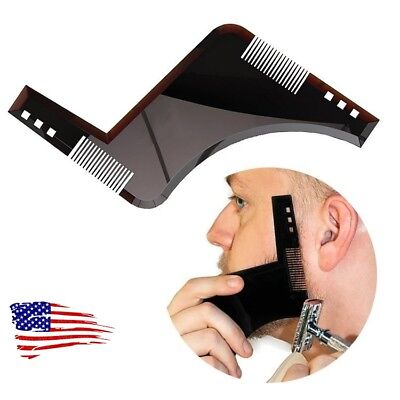 NEW Beard Shaping Template Comb Tool Beard Beauty For Perfect Lines And Symmetry