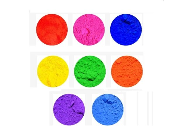 Set of 8 15g / o.5 ounce Neon Pigment for Nail ar