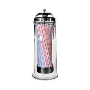 NEW Davis & Waddell Essentials Glass Straw Dispenser with 100 Straws