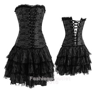 gothic corset dress  ebay