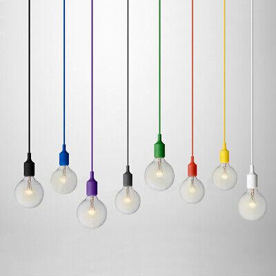 Modern Colorful Silicone Mini Ceiling Pendant Light Hanging Lamp 110V Black - Mini Ceiling Lamp