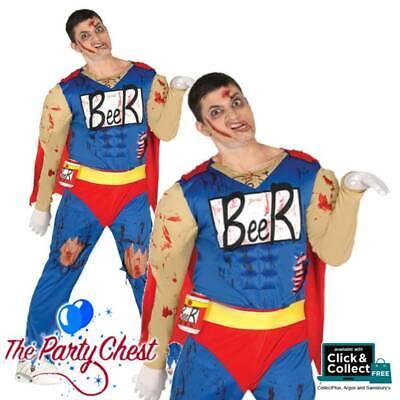 Duffman Halloween Costume (ADULT ZOMBIE BEER MAN COSTUME Halloween Duff Man Hero Fancy Dress Outfit)