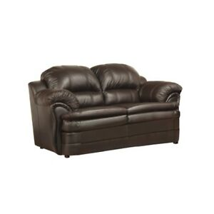 BRAND NEW AIR LEATHER LOVE SEAT FOR ONLY $450 - MADE IN CANADA