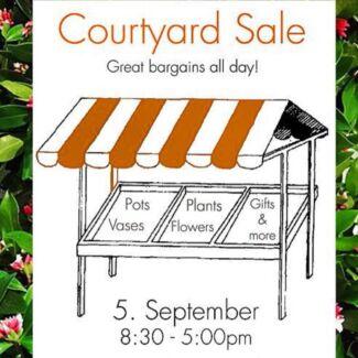 Courtyard Sale at Garlands Florist Werrington County Penrith Area Preview