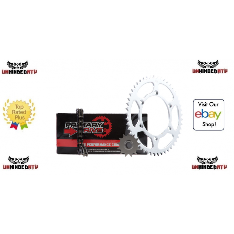Fits Primary Drive Steel Kit /& Gold X-Ring Chain Can-Am DS450 2008-2012