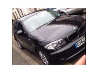 BMW ONE SERIES. 2010 £5200. Only £30 road tax!!