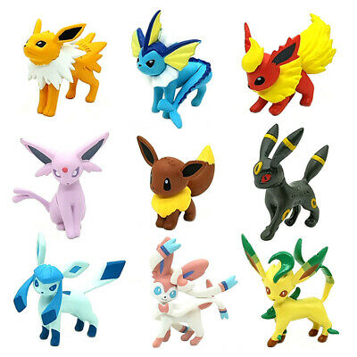 3Pcs/9Pcs Pokemon Go Toy Eevee Eeveelutions pokemon figures Gift