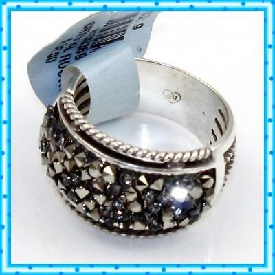 Brighton Crystal Rocks Silver Band Size 9 Ring NWT $52