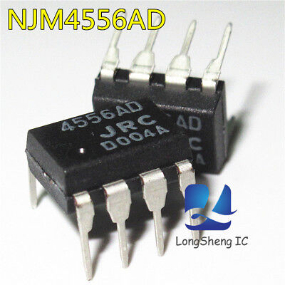 10 Pcs Njm4556ad Dip-8 Dual High Operational Amplifier New