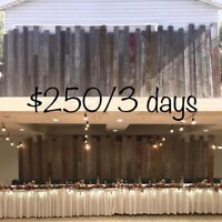 Rustic Wedding Decorations for RENT