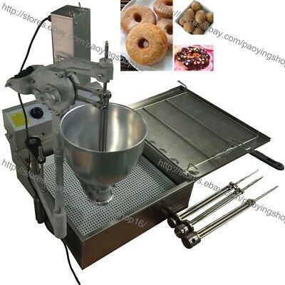 7.5l Electric Automatic Donut Ball Doughnuts Machine Maker Fryer With 3 Mold
