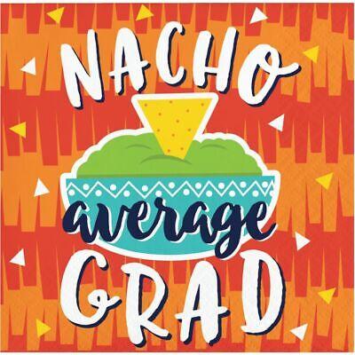 Fiesta Fun Graduation Nacho Beverage Napkins 16 Pack Graduation Decorations Fun Beverage Napkins