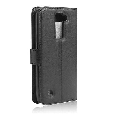 LG K8 - Housse Etui Folio à Clapet - Noir - Phonit
