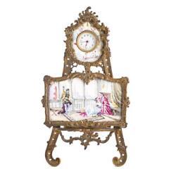Rococo style gilt-metal desk clock Lot 1391