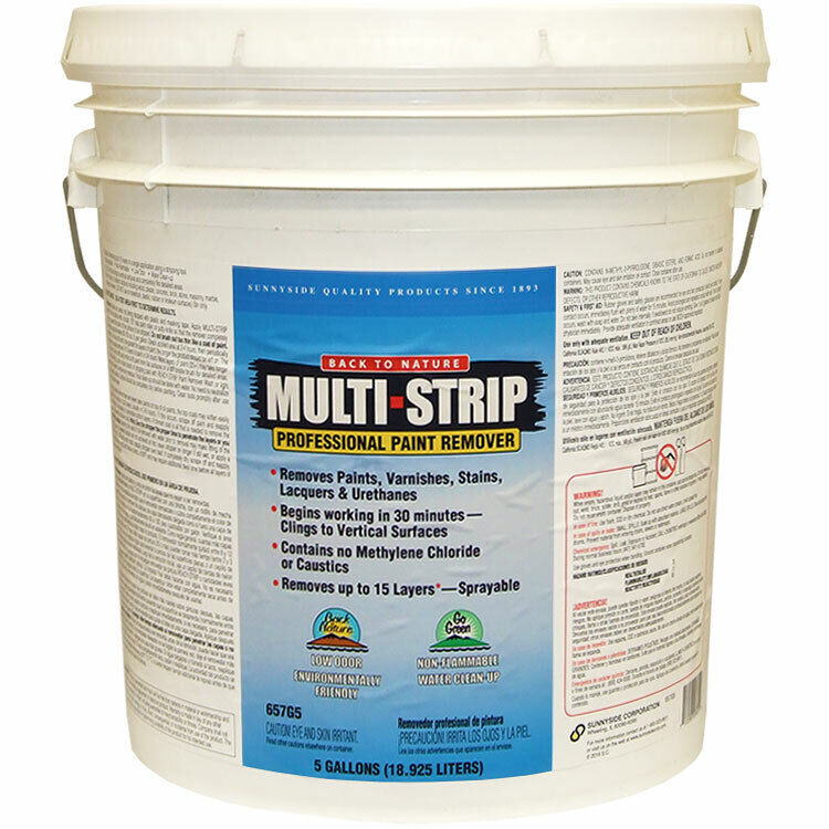 Back to Nature Multi Strip Professional Paint Remover 5-gallon