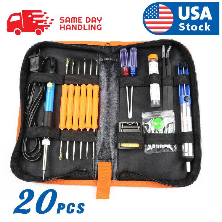 Electric Soldering Iron Gun Tool Kit 110V 60W Control ℃ We