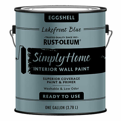 Rust-Oleum 332144 Unqualifiedly Home Eggshell LAKEFRONT BLUE Interior Wall Paint