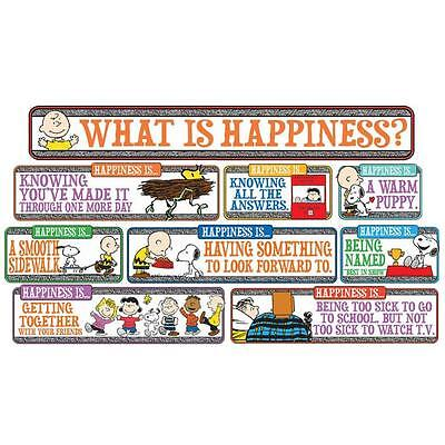 Eureka 847102 PEANUTS Happiness Is…. MINI BULLETIN BOARD SET NEW Classroom Decor