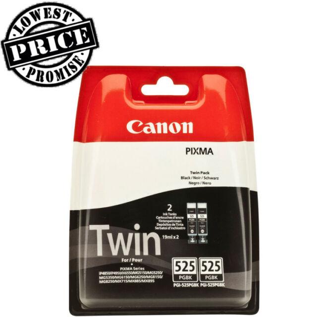 2x Original Genuine Canon PGI525 Black Ink For PIXMA MG5250 (4529B006AA)