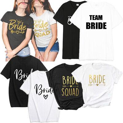 Team Bride T-shirt Bridesmaid Bride Squad Tee Hen Party Tops Women Shirt Gift