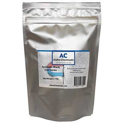 1 Lb Synthetic Black Iron Oxide - Fe3o4 - 1 Micron Particle Size