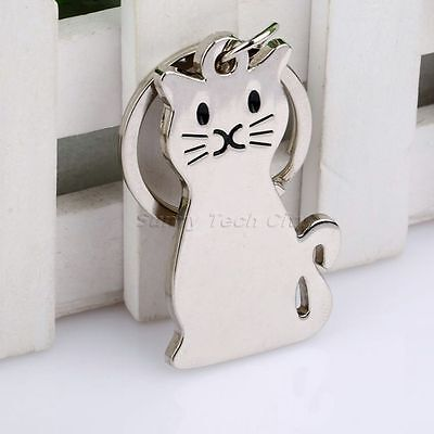 Plane Metal Cat Kitty Charms Car Keychain Keyring Key Fob Chain Holder Pendant Kitty Planer