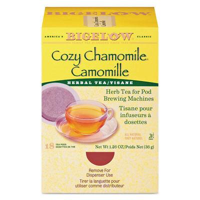 Bigelow Cozy Chamomile Herbal Tea Pods 1.90 oz 18/Box 10906 Cozy Chamomile Herbal Tea