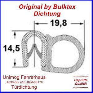 Türdichtung Unimog festes Fahrerhaus Gummi Nylon 2,6m 403/406/ 416 KGA0817U MB7