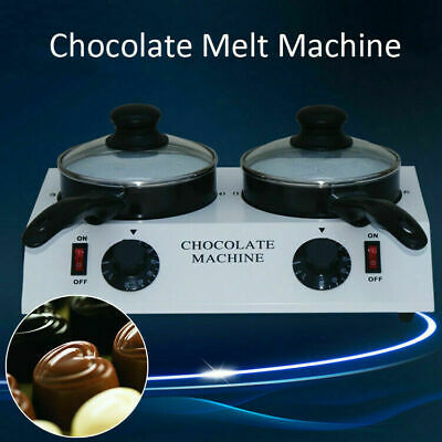2 Pots Chocolate Melting Machine Chocolate Tempering Machine Soap Handmade Tool