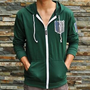 Green-Attack-on-titan-shingeki-no-kyojin-Investigation-Hoodies-Jackets-Coats