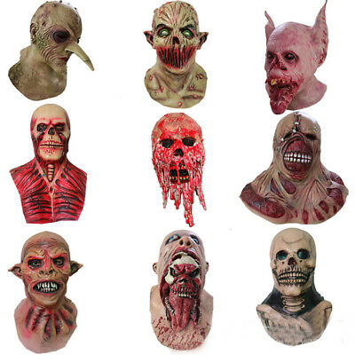 Halloween Horror Art Latex Mask Monster Vampire Witch Werewolf Bat Cosplay - Witch Latex Mask