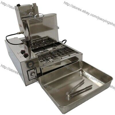 4pcsrow Heavy Duty Electric Automated Mini Doughnut Donut Machine Maker Fryer