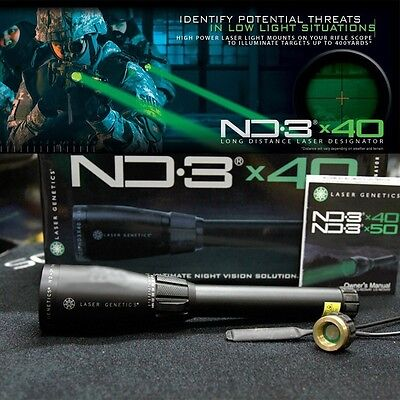 High Power Long Distance ND3x40 Green Laser Sight Light Scope Designator w/mount