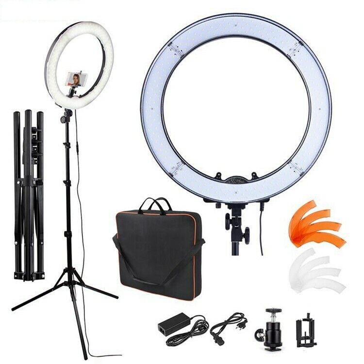 "Neewer Camera LED SMD Ring Light 5500K Photo/Video 18""/48cm Plastic Color Filter"